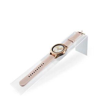 wąski podłużny ekspozytor na zegarek z plexi
