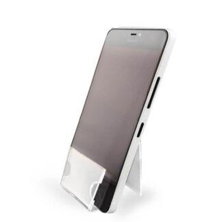 podstawka na telefon z plexi do sklepu