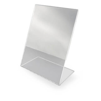 stojak z plexi na jedna ulotke plakat grafike