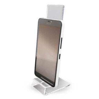 stojak na telefon z plexi do sklepu