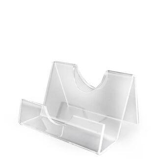 alternatywny poręczny stojak z plexi na ulotki