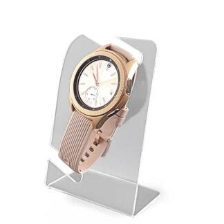 szary ekspozytor na zegarek lub bransoletkę dla sklepów lub drogerii z plexi