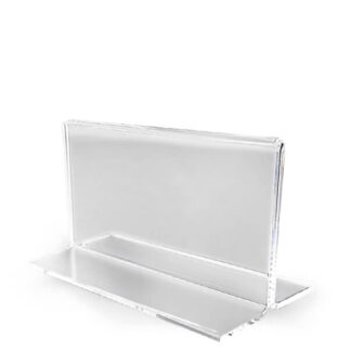 klasyczna poręczna cenówka lub wizytownik z plexi na stół