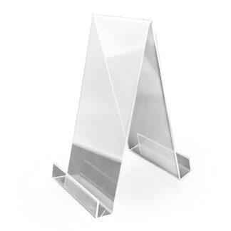 stojak z kieszonka z plexi na ulotki foldery