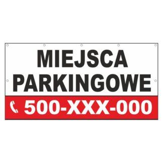 Baner informujący o miejscach parkingowych