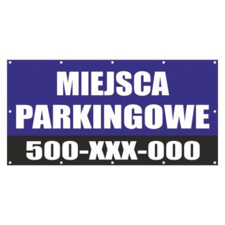 Plakat miejsca parkingowe