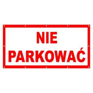 Plakat nie parkować