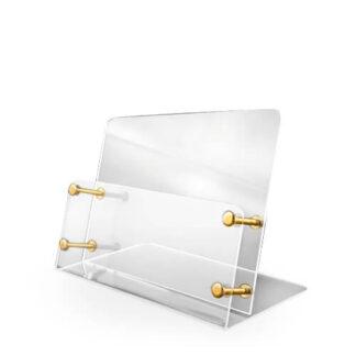 stojak z kieszenią z plexi