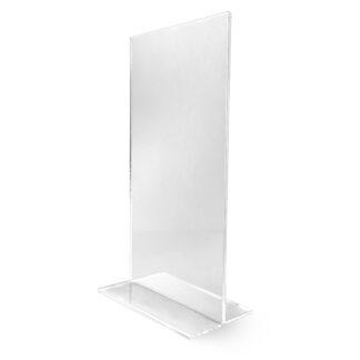 pionowy stojak z plexi DL na menu numery stolow