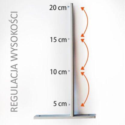 Ścianka z plexi z regulacją wysokości