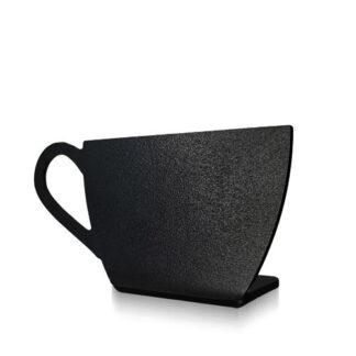 stojak kredowy w kształcie zwykłej filiżanki bez napisu