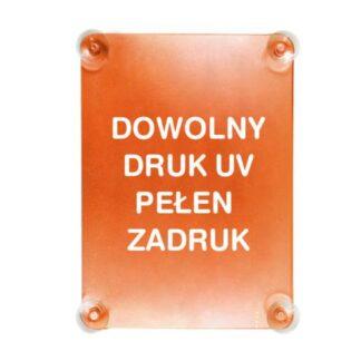 ramka na plakat na cztery przyssawki do witryny sklepowej