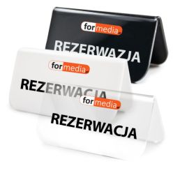 tabliczki informacyjne rezerwacja z logiem