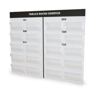 tablica z kieszeniami na informacje