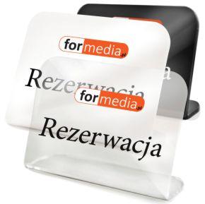 tabliczka informacyjna rezerwacja z logo