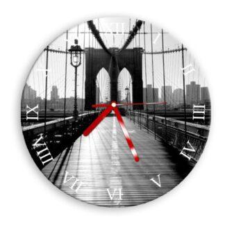 zegar scienny most czarnobialy do salonu