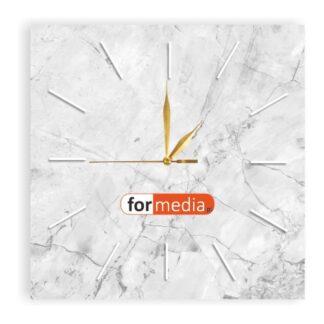 zegar naścienny marmur z logo formedia