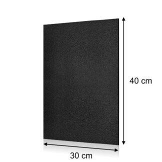 prostokątna czarna tablica kredowa 30x40cm