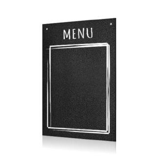 czarna tablica kredowa menu