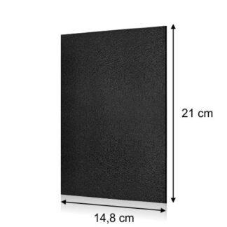 tablica prostokątna czarna 14,8x21cm