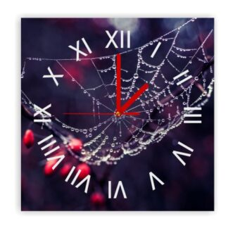 zegar naścienny mokra pajęczyna