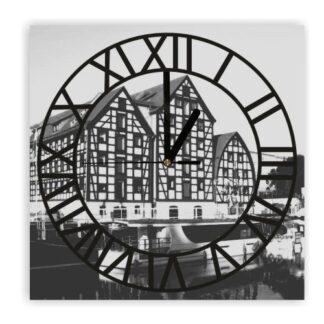 zegar naścienny bydgoszcz czarnobiały