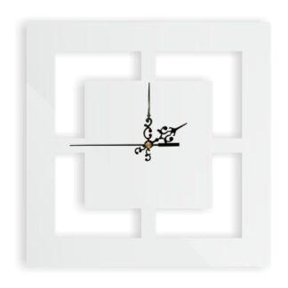 biały kwadratowy zegar