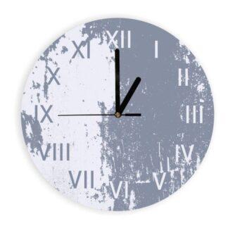 biało szary zegar