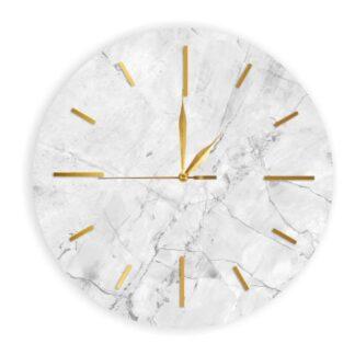 okrągły zegar marmur bez oga