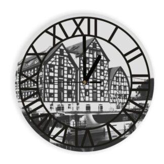 zegar z grafiką bydgoszczy