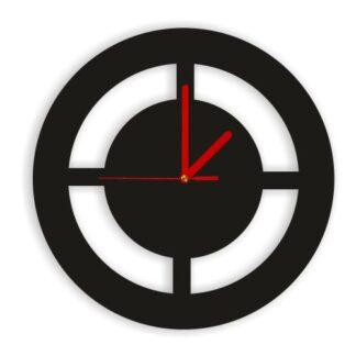 czarny zegar bez loga