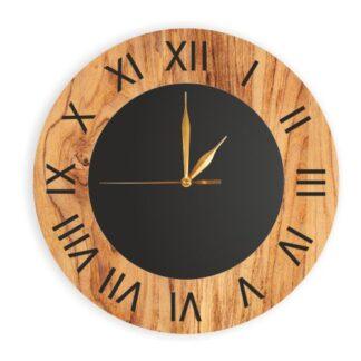 drewniany okrągły zegar bez loga