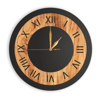 drewniany zegar bez loga