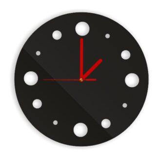 czarny elegancki zegar