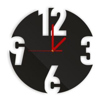 ozdobny zegar czarny