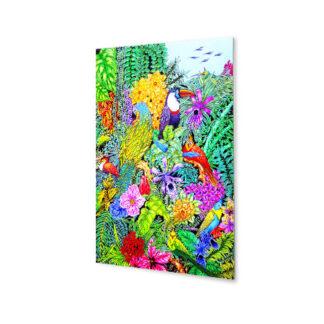 obraz ptaki kwiaty plexi