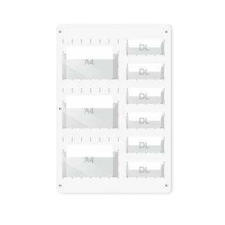 Tablica z PCW z kieszeniami z pleksi