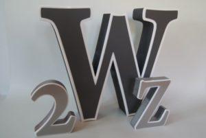litery przestrzenne z plexi