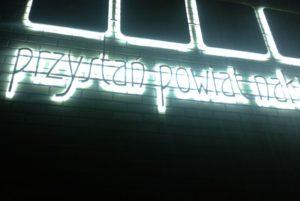 litery przestrzenne podświetlane