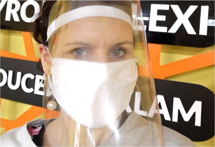 przyłbica chroniąca na twarz