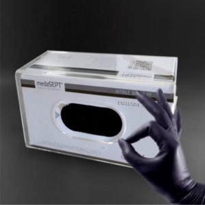 pojemnik poziomy podłużny na karton z rękawiczkami jednorazowymi