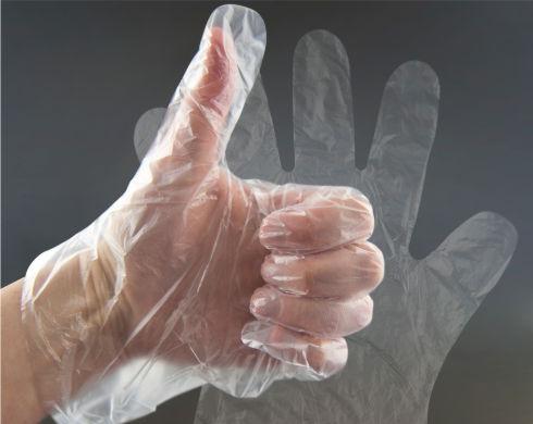 rekawiczka foliowa na dłoń