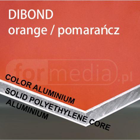 kolorowe aluminium lekkie cienkie tworzywo pomarańczowy