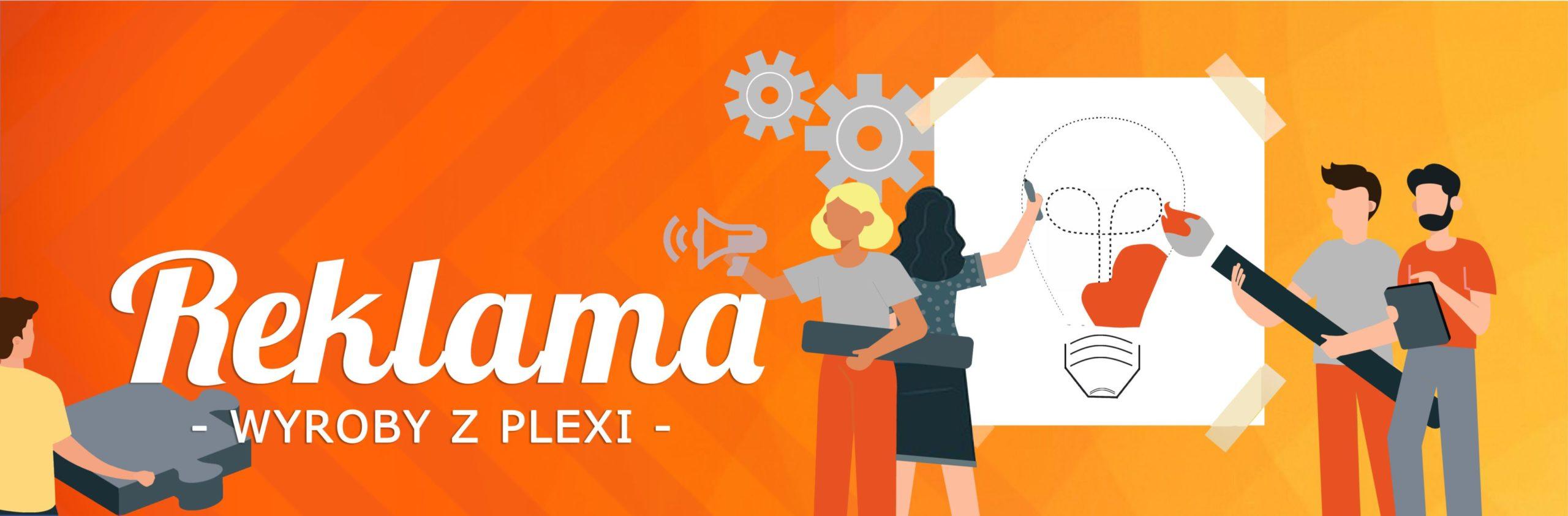 baner pomaranczowy kreatywny reklama wyroby z plexy