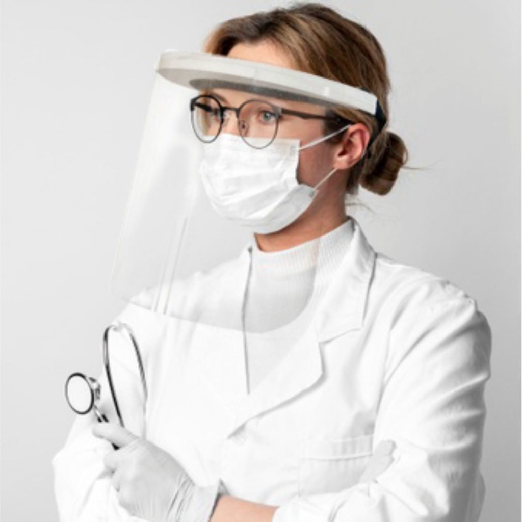 przyłbica maska dentystyczna