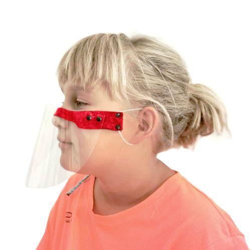 półprzyłbica z filcem dla dzieci