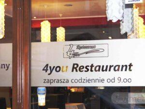 Folia szroniona do restauracji