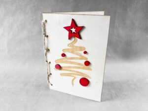 grawer na kartce świątecznej
