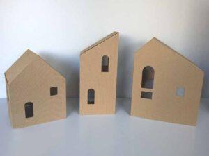 kartonowe domki