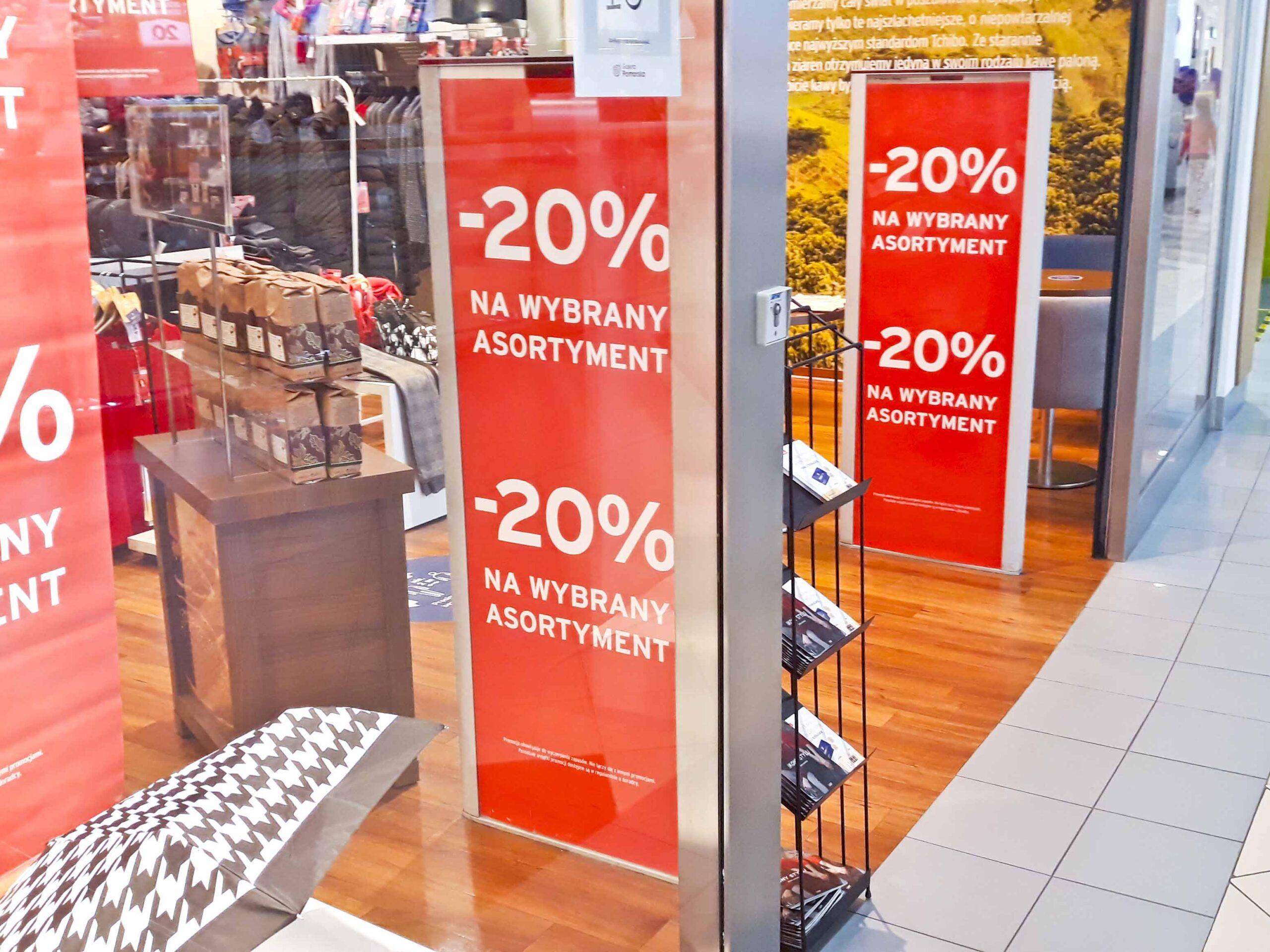 Reklama promocji dla sklepów